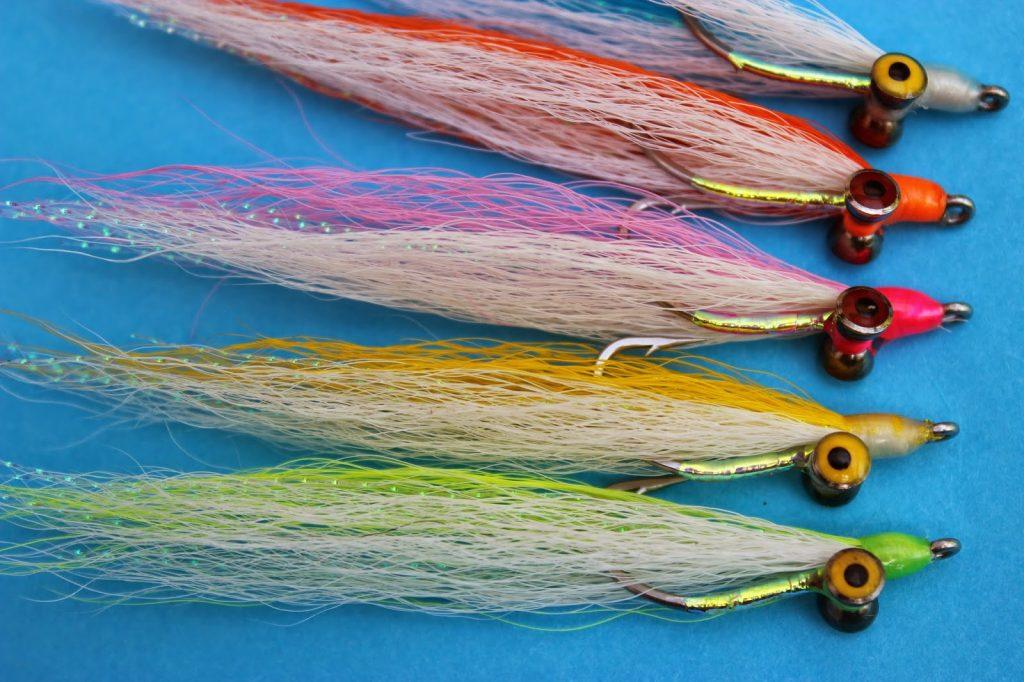 2x BEST UK BASS SALT WATER sea FLIES GOLD fishscales SAND ELL  MINNOWS fly orvis